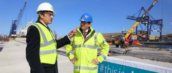 Leading civil engineer tours Teesside port upgrade project