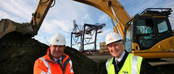 PD Ports puts first spade in the ground as container terminal expansion commences at Teesport