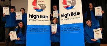 Celebrating success as first cohort of young people graduate High Tide summer scheme
