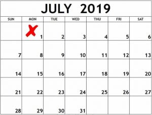Calendar of marking July 1st as the date that the VBS will become a requirement