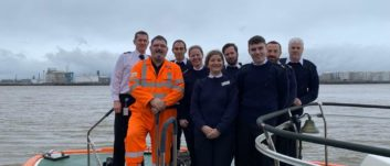 Royal Navy Reserves Touch Base at Teesport