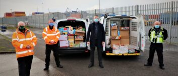 PD Ports staff embrace the spirit of Christmas with food bank donations